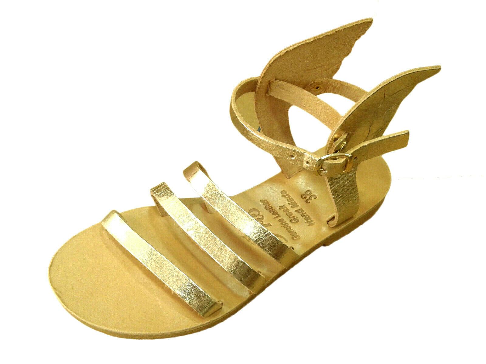 Winged Greek Handmade Leather Sandals