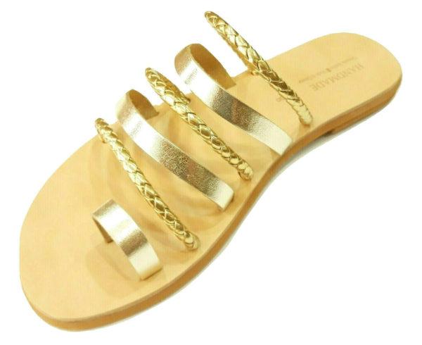 greek handmade leather sandals 709