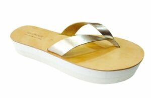 greek handmade sandals - wedge platform